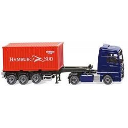 ** Wiking 052348 MAN TGX Euro 6 Container Semi Truck Hamburg Sud