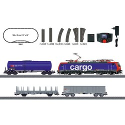 ** Marklin 29861 SBB Re474 Electric Freight Starter Set VI (MFX-Sound) - HO Scale
