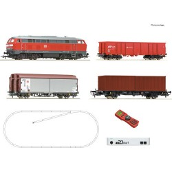 ** Roco 51312 DBAG BR218 Freight Starter Set VI (DCC-Fitted) - HO Scale