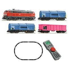 ** Fleischmann 931890 DB BR218 Freight Starter Set V (DCC-Fitted) - N Scale