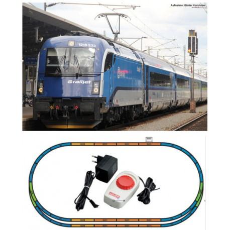 ** Piko 57173 Hobby CD Railjet Rh1216 Passenger Starter Set - HO Scale