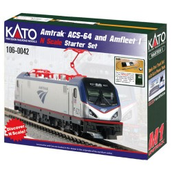 ** Kato 106-0042 Amtrak ACS-64 Amfleet PhI Starter Set - N Scale