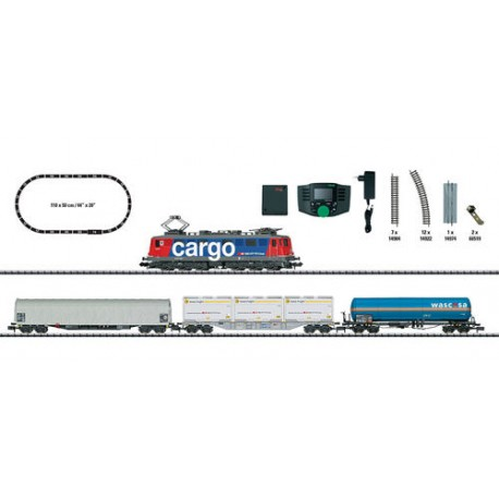 ** Minitrix 11141 SBB Cargo Ae610 Freight Starter Set VI (DCC-Fitted) - N Scale