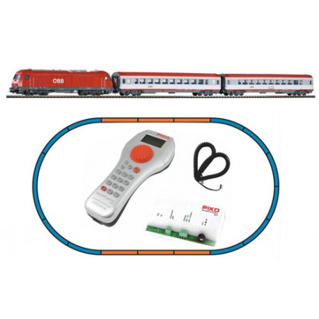 ** Piko 59009 SmartControl Light OBB Rh2016 Starter Set V (DCC-Fitted) - HO Scale
