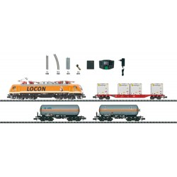 ** Minitrix 11143 LOCON ES64 Electric Freight Starter Set VI (DCC-Fitted) - N Scale