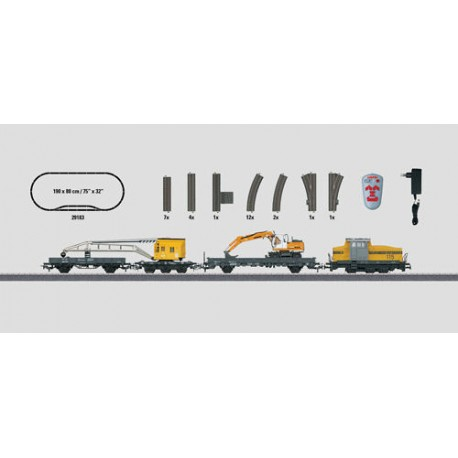 ** Marklin 29183 Start Up Construction Site Starter Set (FX-Fitted) - HO Scale