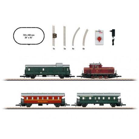 ** Marklin 81871 German V60 Museum Passenger Train Starter Set VI - Z Scale