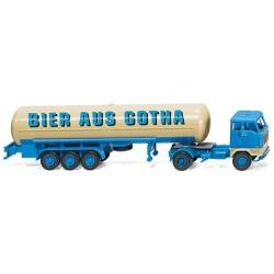 ** Wiking 078063 Volvo F89 Tanker Bier aus Gotha