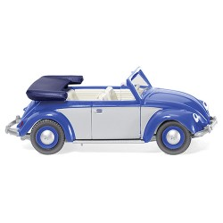 ** Wiking 079404 VW Beetle 1200 Cabriolet Blue/Silver