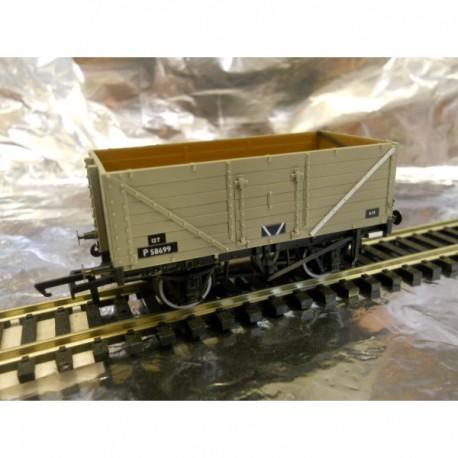 ** Oxford Rail 76MW7013B 7 Plank Wagon - BR Grey P58699