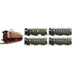 ** Fleischmann 481701 DRG EP5 Gruppenverwaltung Bayern -  Train Pack II - HO Scale