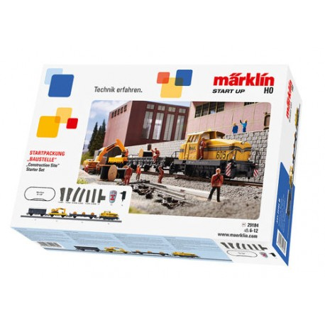 ** Marklin 29184 Start Up Construction Site Starter Set (MFX-Fitted) - HO Scale