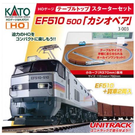** Kato 3-003 JR EF510 Cassiopeia Freight Starter Set - HO Scale