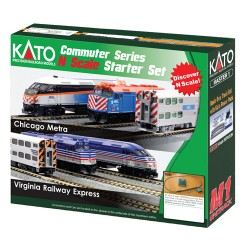 ** Kato 106-0034 Virginia Railways Express F40PH Passenger Starter Set - N Scale