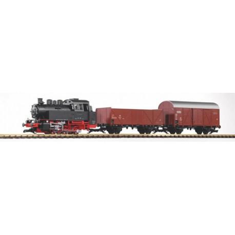** Piko 37120 DB BR80 Freight Starter Set III (Analogue-Sound/Smoke) - G Scale