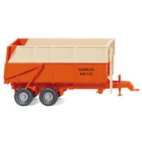 ** Wiking 038702 Kaweco Dump Trailer Orange/Ivory