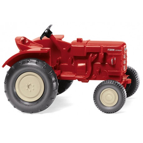 ** Wiking 087705 Fahr Tractor Red