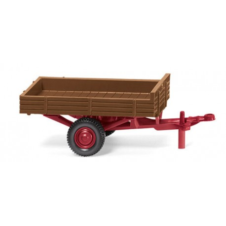 ** Wiking 087943 Allgaier Single Axle Trailer Fawn