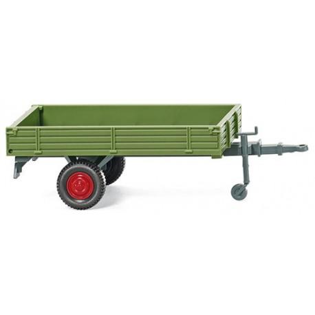 ** Wiking 088738 Single Axle Trailer Green