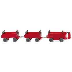 ** Wiking 116003 Still Electric Cart with Trailers Red