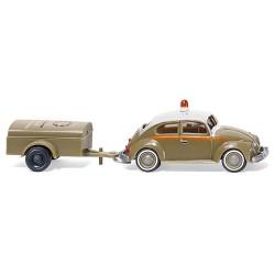 ** Wiking 003001 VW Beetle 1200 with Schlotmann Trailer