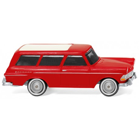 ** Wiking 007149 Opel Rekord '61 Caravan Red/Orange