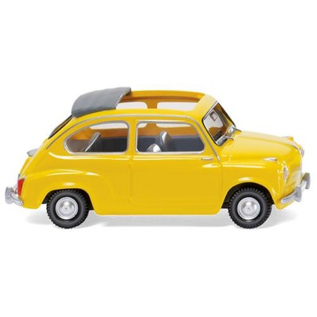 ** Wiking 009905 Fiat 600 with Folding Roof Yellow