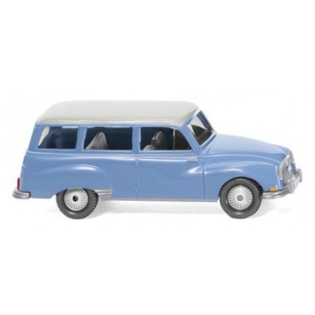 ** Wiking 012301 Auto Union 1000 Universal Blue/White Roof