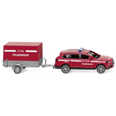 ** Wiking 013307 Audi Q7 with Trailer Fire Brigade