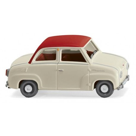 ** Wiking 018403 Glas Goggomobil Pearl White/Red