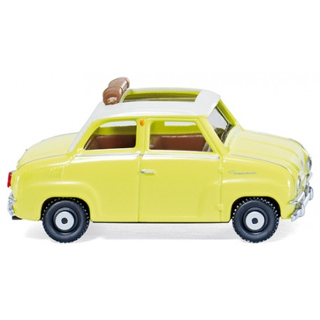 ** Wiking 018448 Glas Goggomobil with Folding Roof Yellow