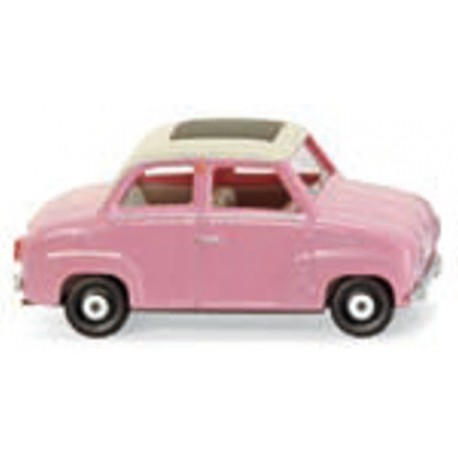 ** Wiking 018499 Glas Goggomobil with Folding Roof Pink