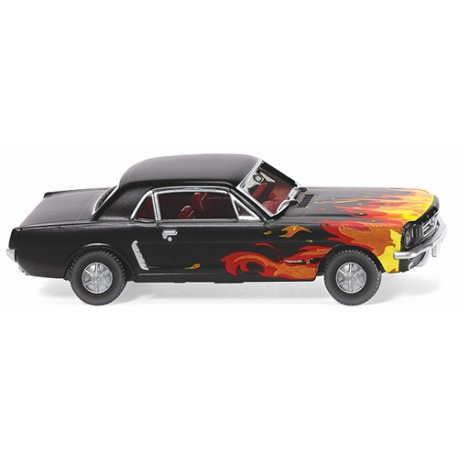 ** Wiking 020503 Ford Mustang Coupe Black with Flames