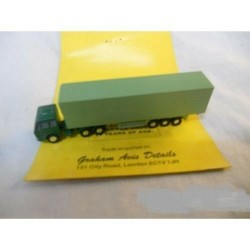 ** Graham Avis Details C17A Semi-Trailer and Tractor Green 1:150 N Scale