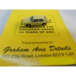 ** Graham Avis Details C05 Hatchback Car Yellow 1:150 N Scale