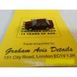 ** Graham Avis Details C03B Saloon Car Maroon 1:150 N Scale