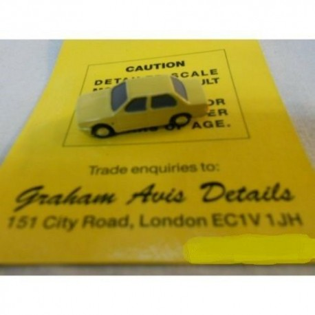 ** Graham Avis Details C03A Saloon Car Yellow 1:150 N Scale