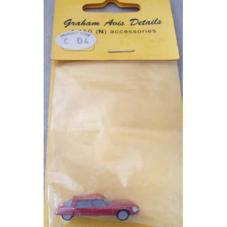 Graham Avis Details C04 Saloon Red Car 1:150 N Scale