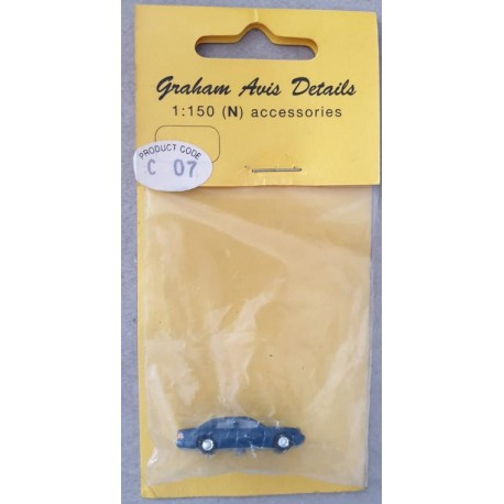 ** Graham Avis Details C07 Saloon Dark Blue Car 1:150 N Scale