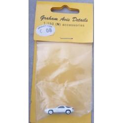 ** Graham Avis Details C08 White Car 1:150 N Scale