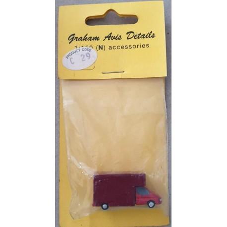 ** Graham Avis Details C29 Red Van 1:150 N Scale