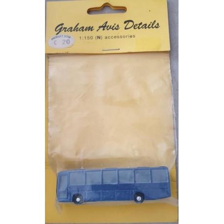 ** Graham Avis Details C20 Single Decker Bus Blue 1:150 N Scale