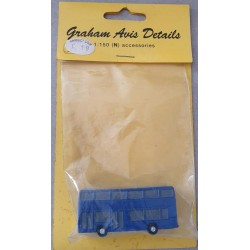 ** Graham Avis Details C19 Double Decker Bus Blue 1:150 N Scale
