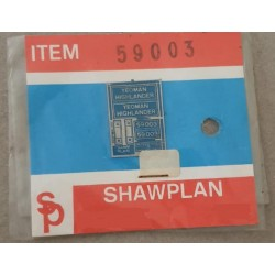 ** Shawplan Name Plates 59003 Yeoman Highlander for 00 / HO locomotives