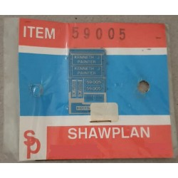 ** Shawplan Name Plates 59005 Kenneth J Painter for 00 / HO locomotives
