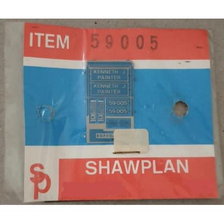 ** Shawplan Name Plates 59005 Kenneth J Painter for 00 / HO locomotives