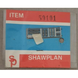 ** Shawplan Name Plates 59101 Village of Whatley for 00 / HO locomotives