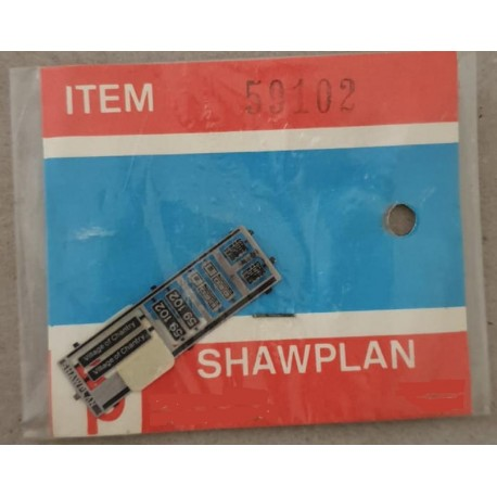 ** Shawplan Name Plates 59102 Village of Trantry for 00 / HO locomotives