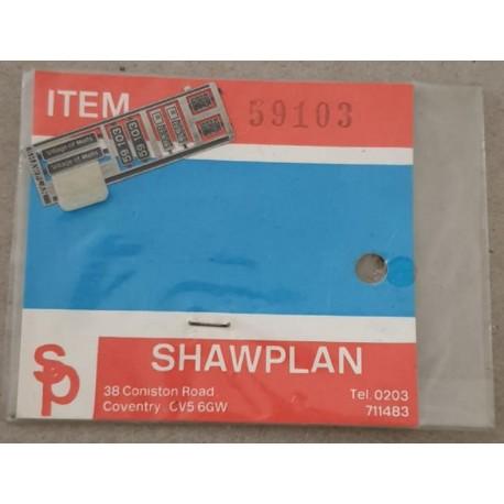 ** Shawplan Name Plates 59102 Village of Mells for 00 / HO locomotives