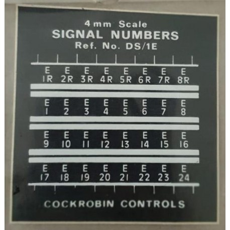 ** DS/1E Cockrobin Controls 4mm Scale 00/HO British Signal Numbers